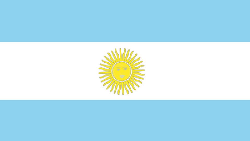 Flag for Argentina