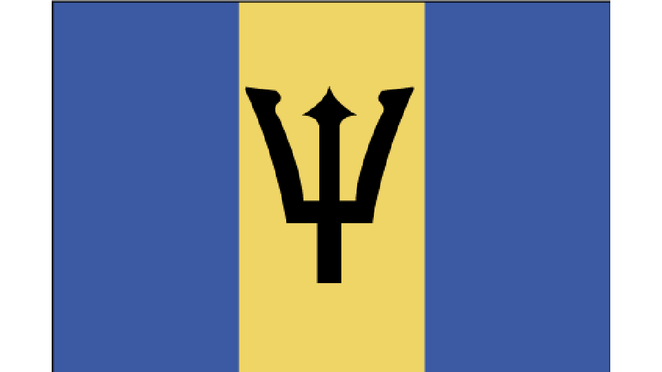Flag for Barbados