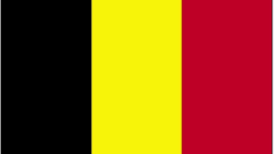 Flag for Belgium