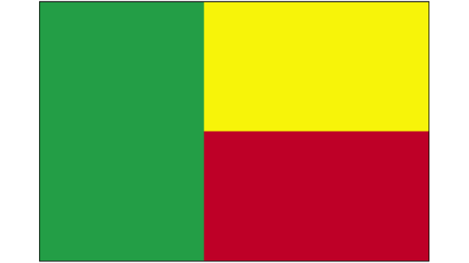 Flag for Benin