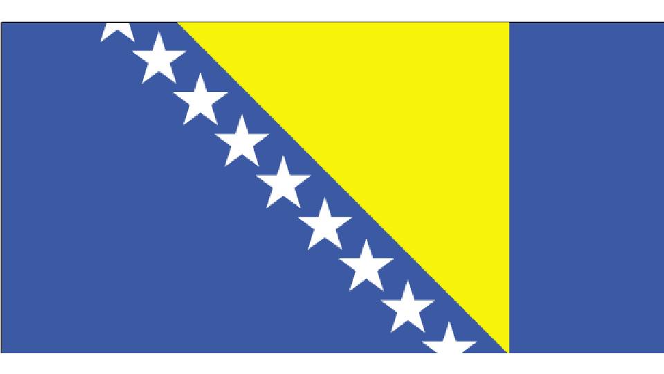 Flag for Bosnia