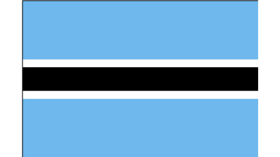 Flag for Botswana