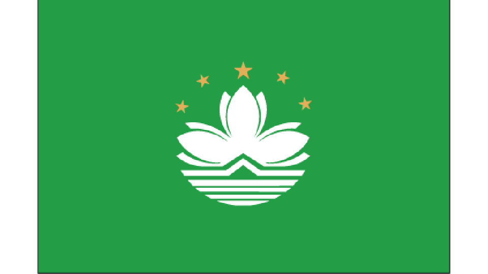Flag for Macau