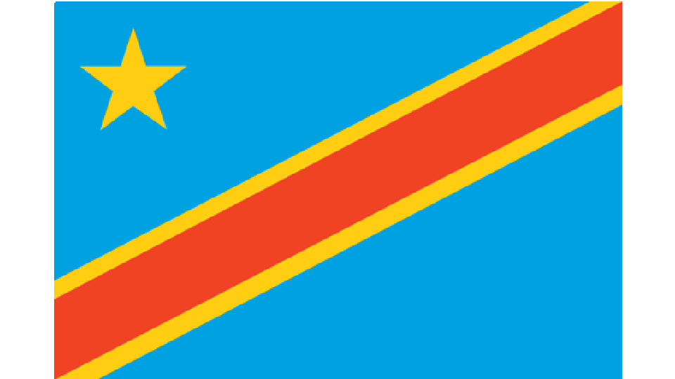Flag for Democratic Republic of Congo (DRC)