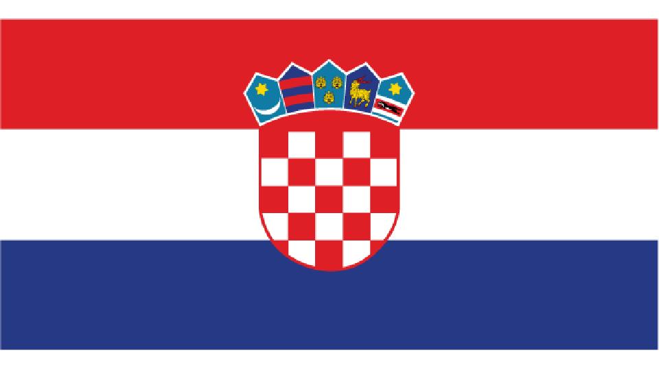 Flag for Croatia