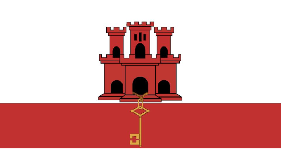 Flag for Gibraltar