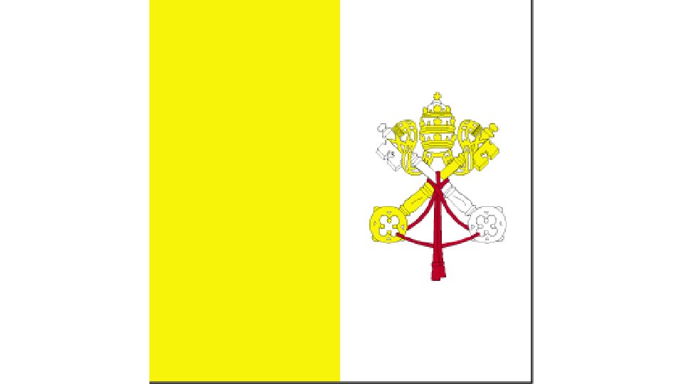 Flag for Holy See (Vatican City)