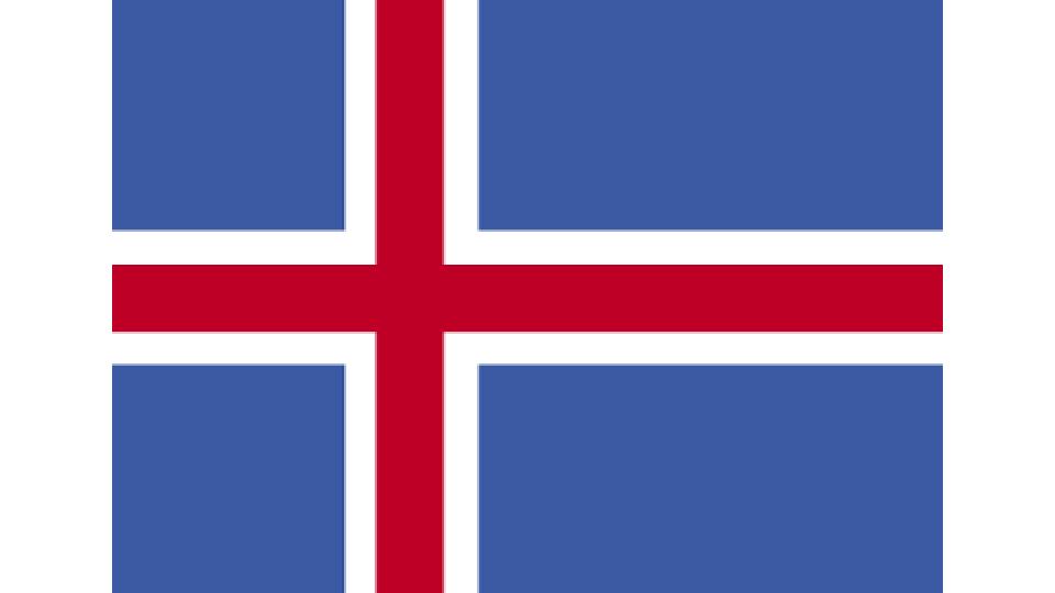 Flag for Iceland