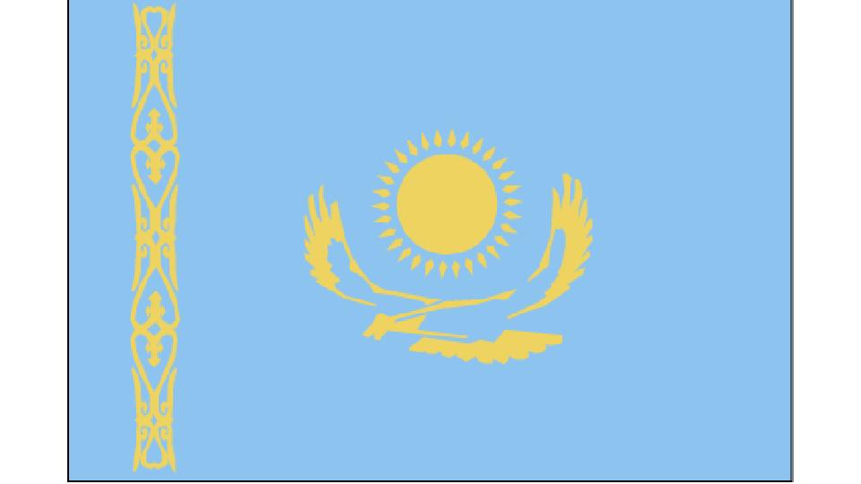 Flag for Kazakhstan