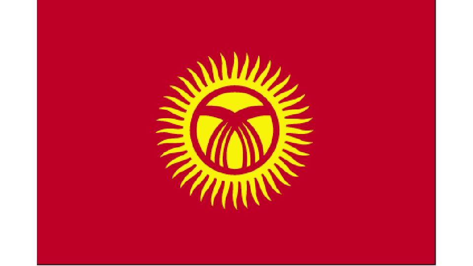 Flag for Kyrgyzstan