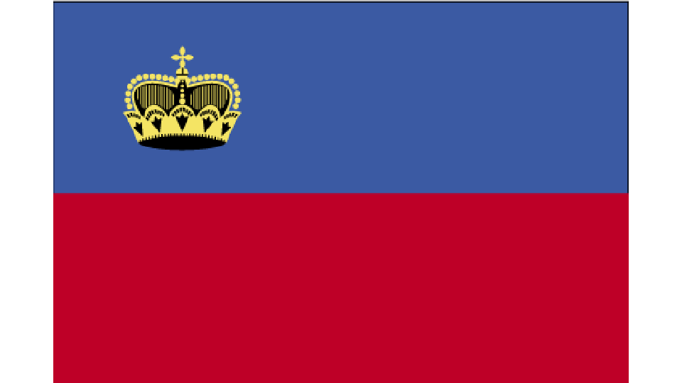 Flag for Liechtenstein