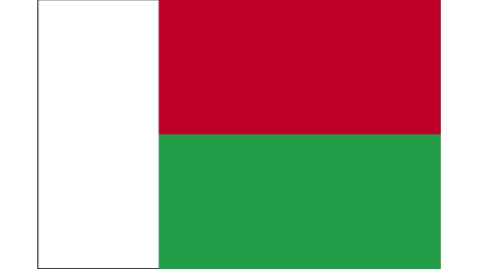 Flag for Madagascar