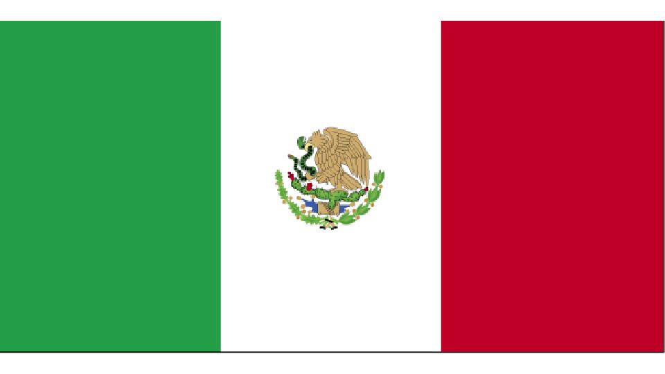 Flag for Mexico