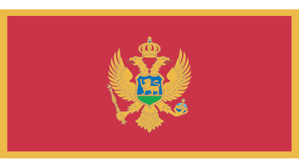 Flag for Montenegro