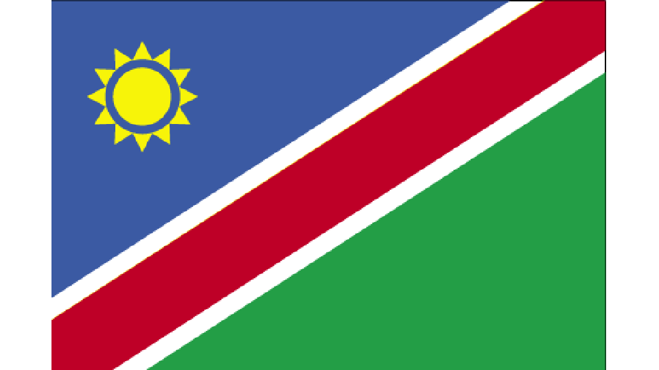 Flag for Namibia