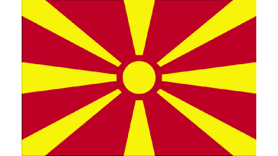 Flag for North Macedonia