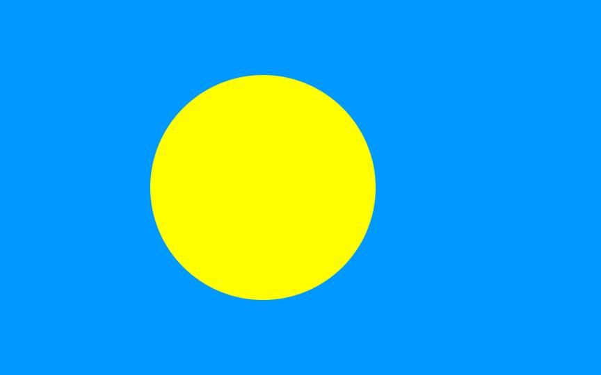 Flag for Palau