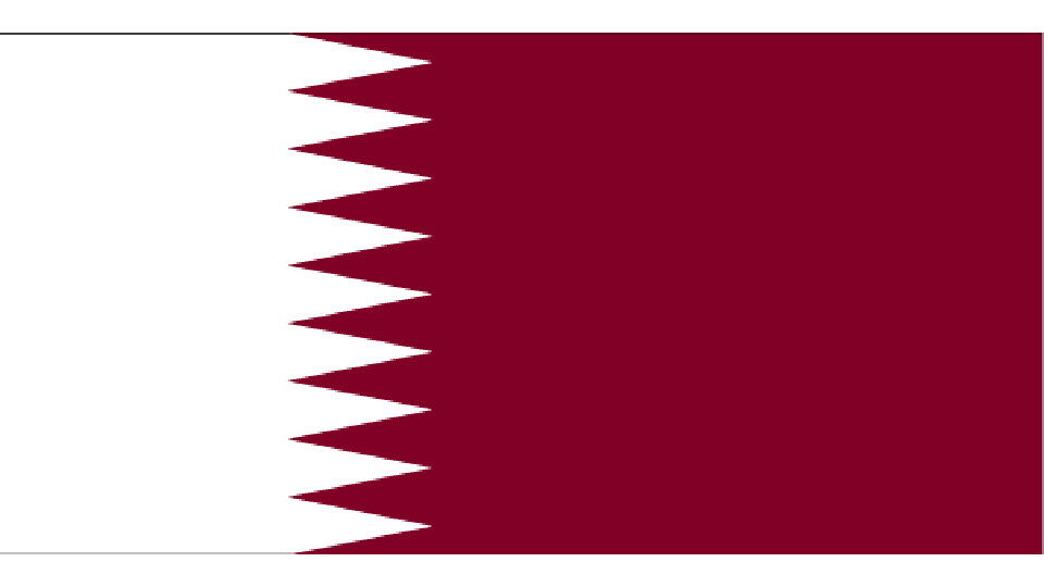 Flag for Qatar