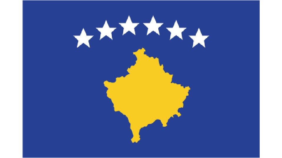 Flag for Kosovo