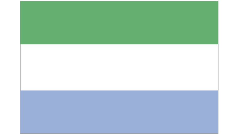 Flag for Sierra Leone