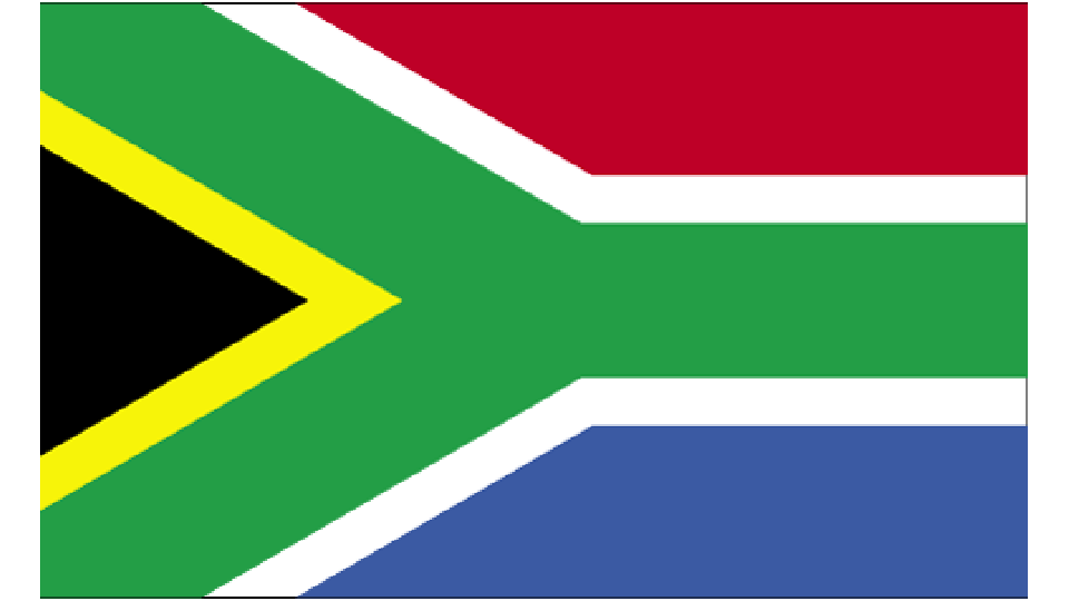 Flag for South Africa