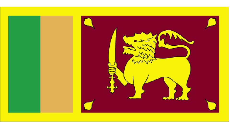 Flag for Sri Lanka