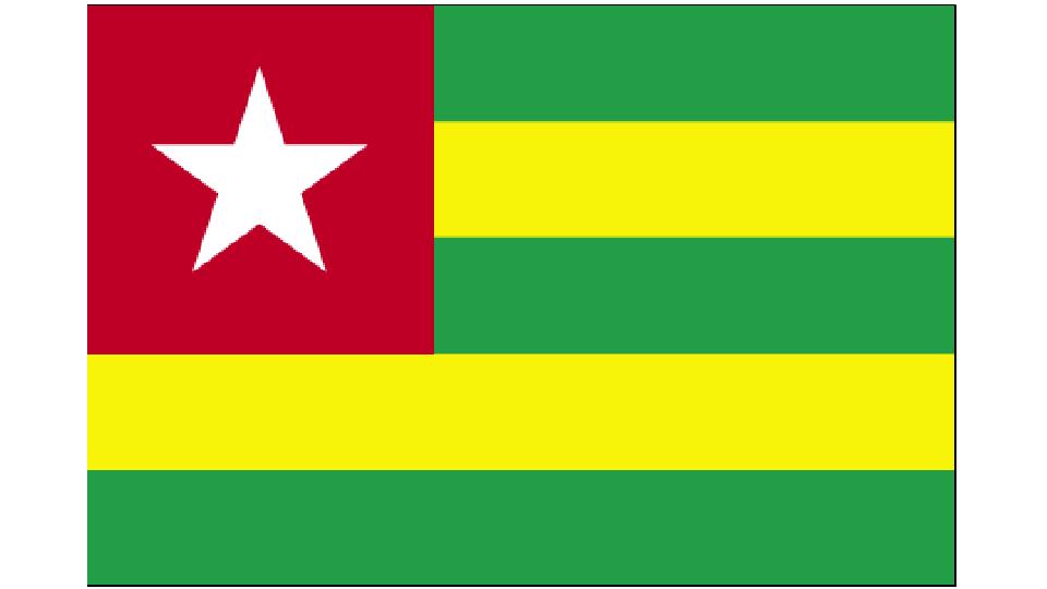 Flag for Togo
