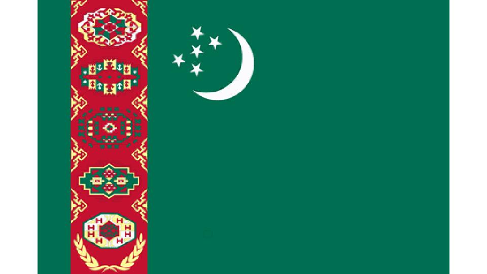 Flag for Turkmenistan