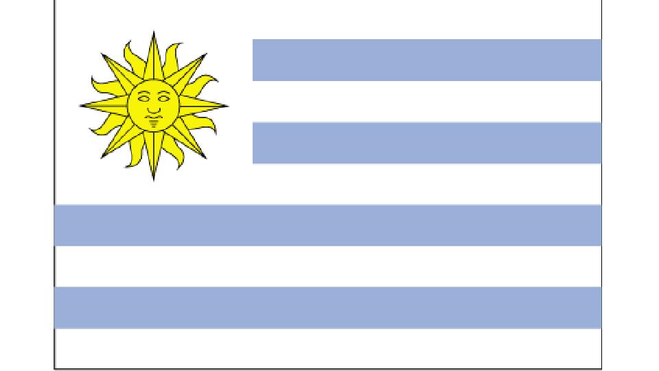 Flag for Uruguay