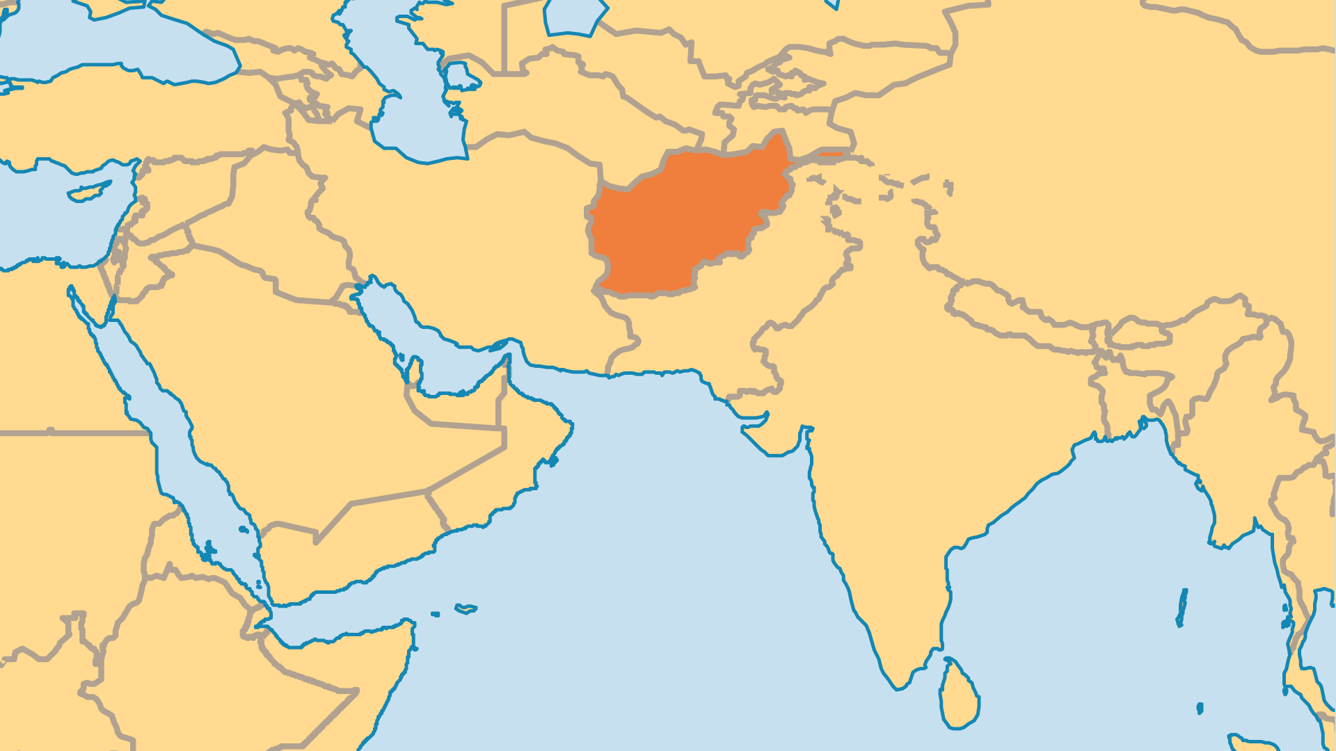 Locator Map for Afghanistan