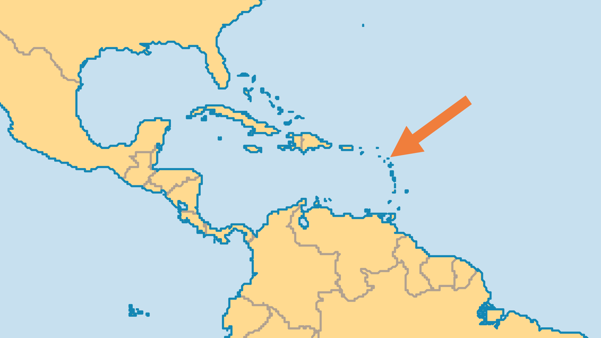 Locator Map for Antigua and Barbuda