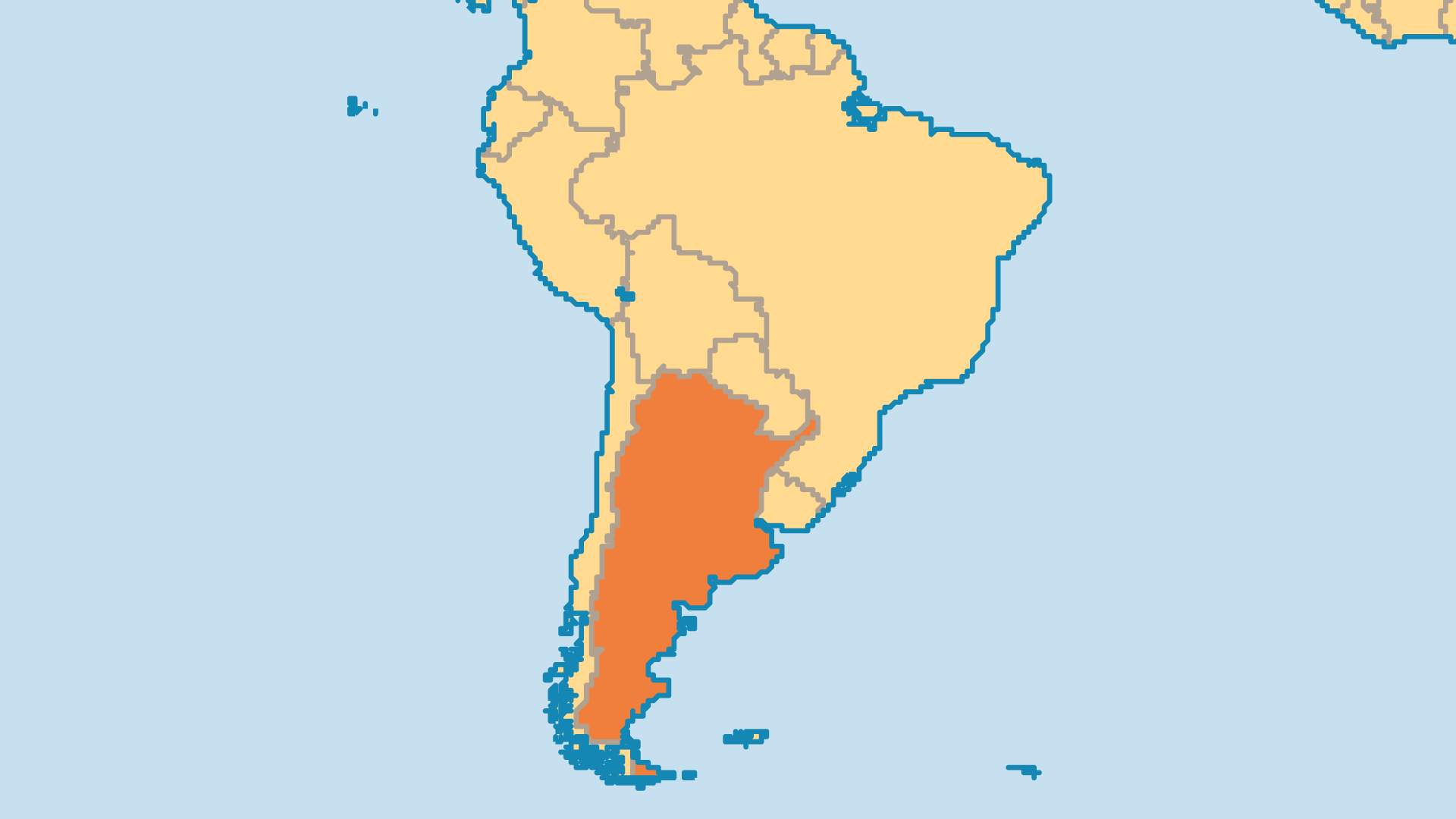 Locator Map for Argentina