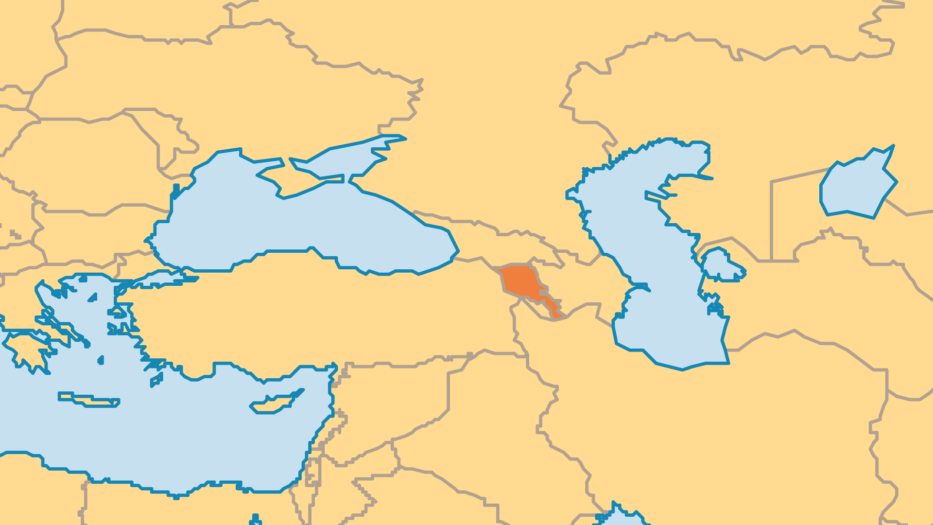Locator Map for Armenia