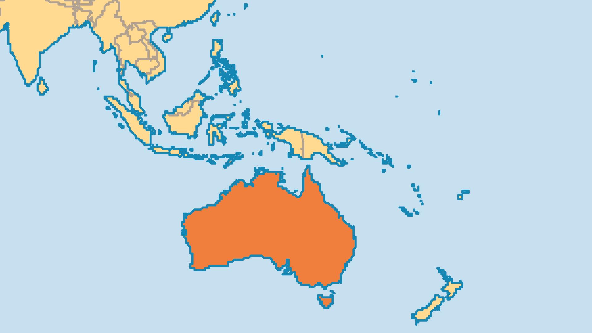 Locator Map for Australia