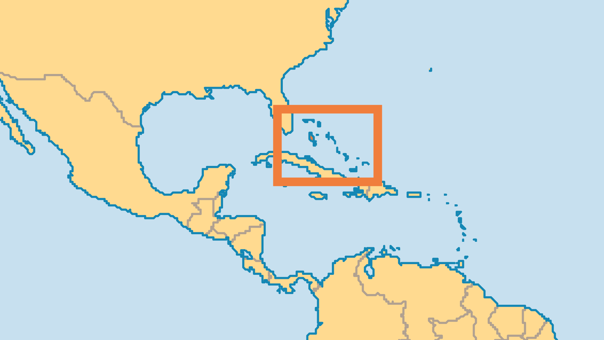 Locator Map for The Bahamas