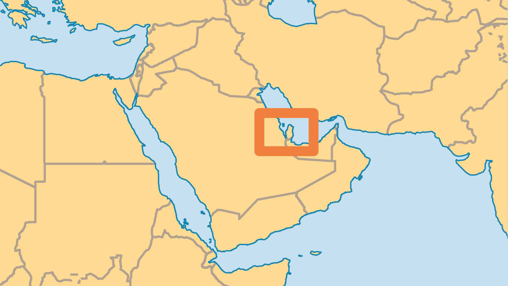 Locator Map for Bahrain