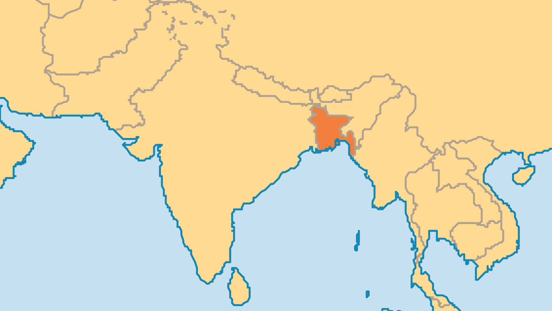 Locator Map for Bangladesh