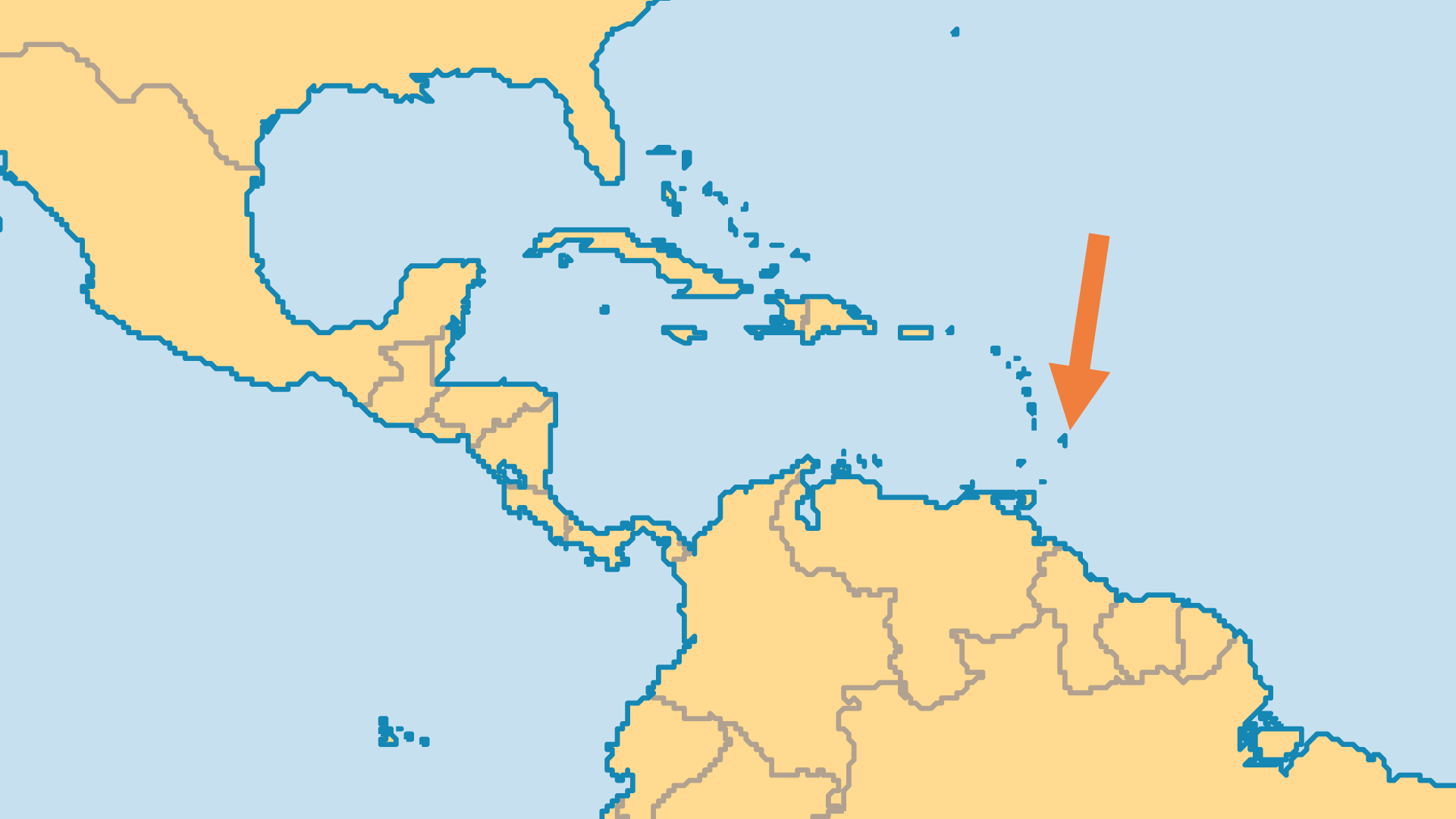Locator Map for Barbados