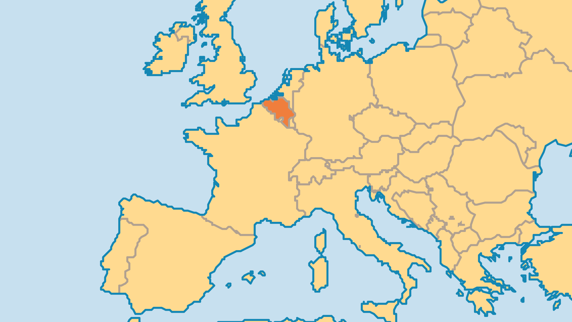 Locator Map for Belgium