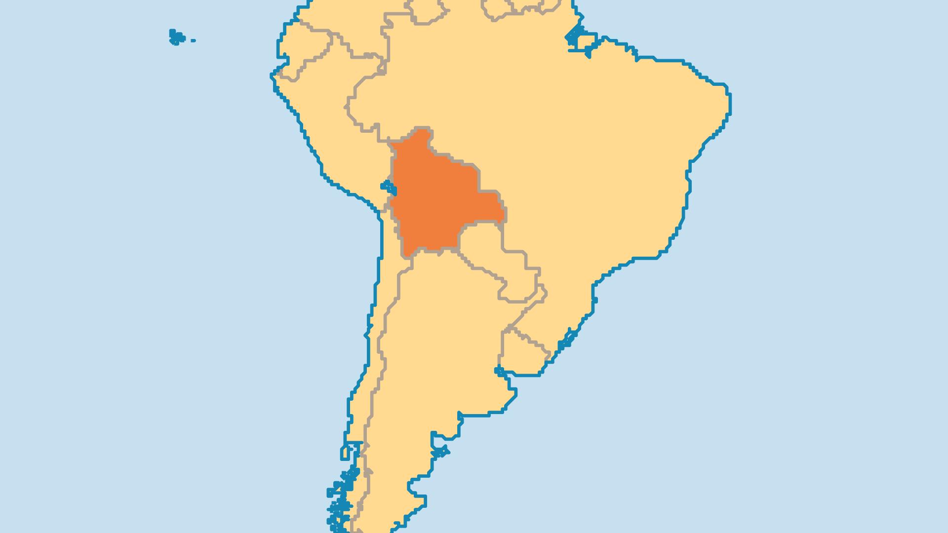 Locator Map for Bolivia