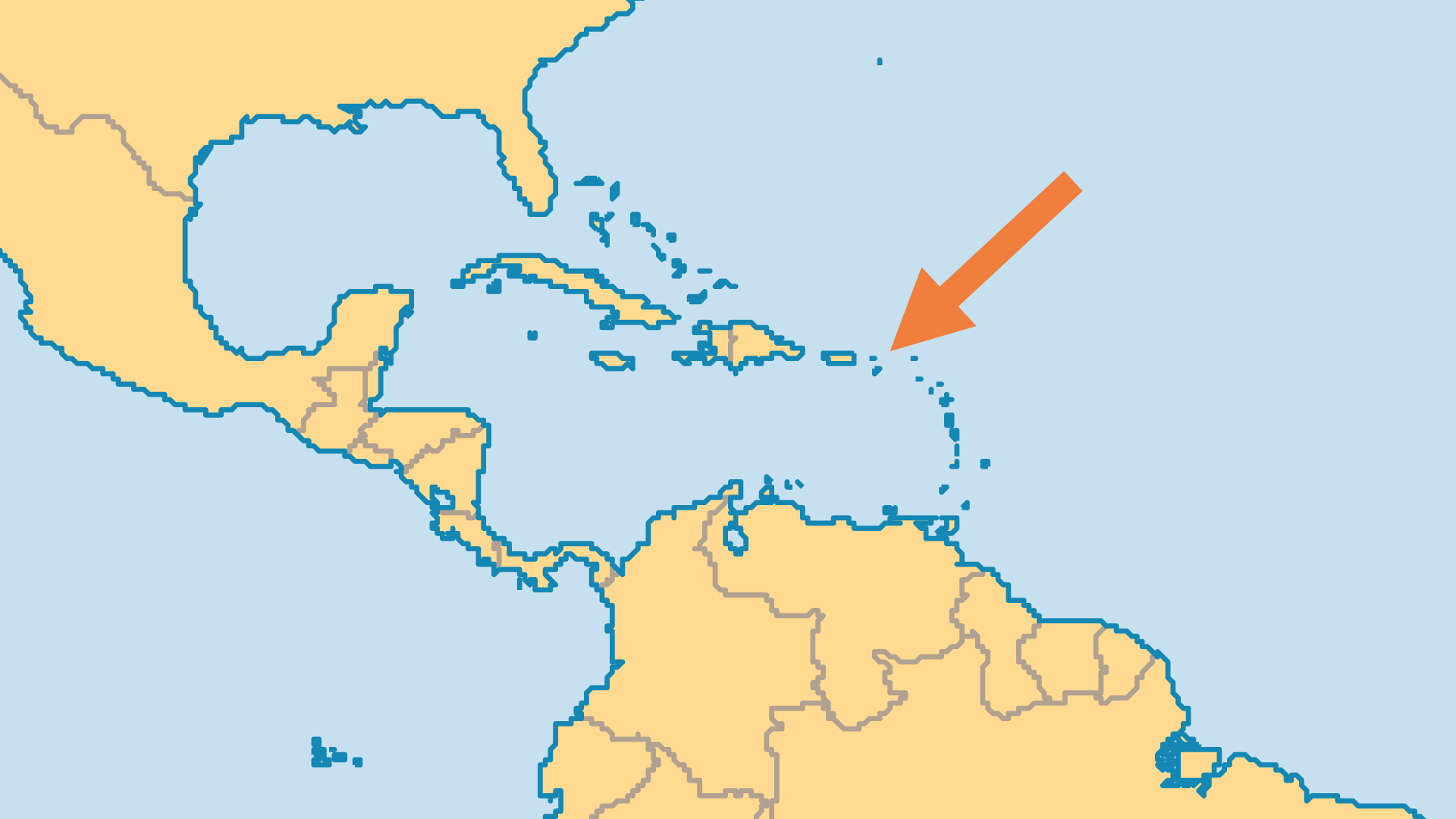 Locator Map for British Virgin Islands