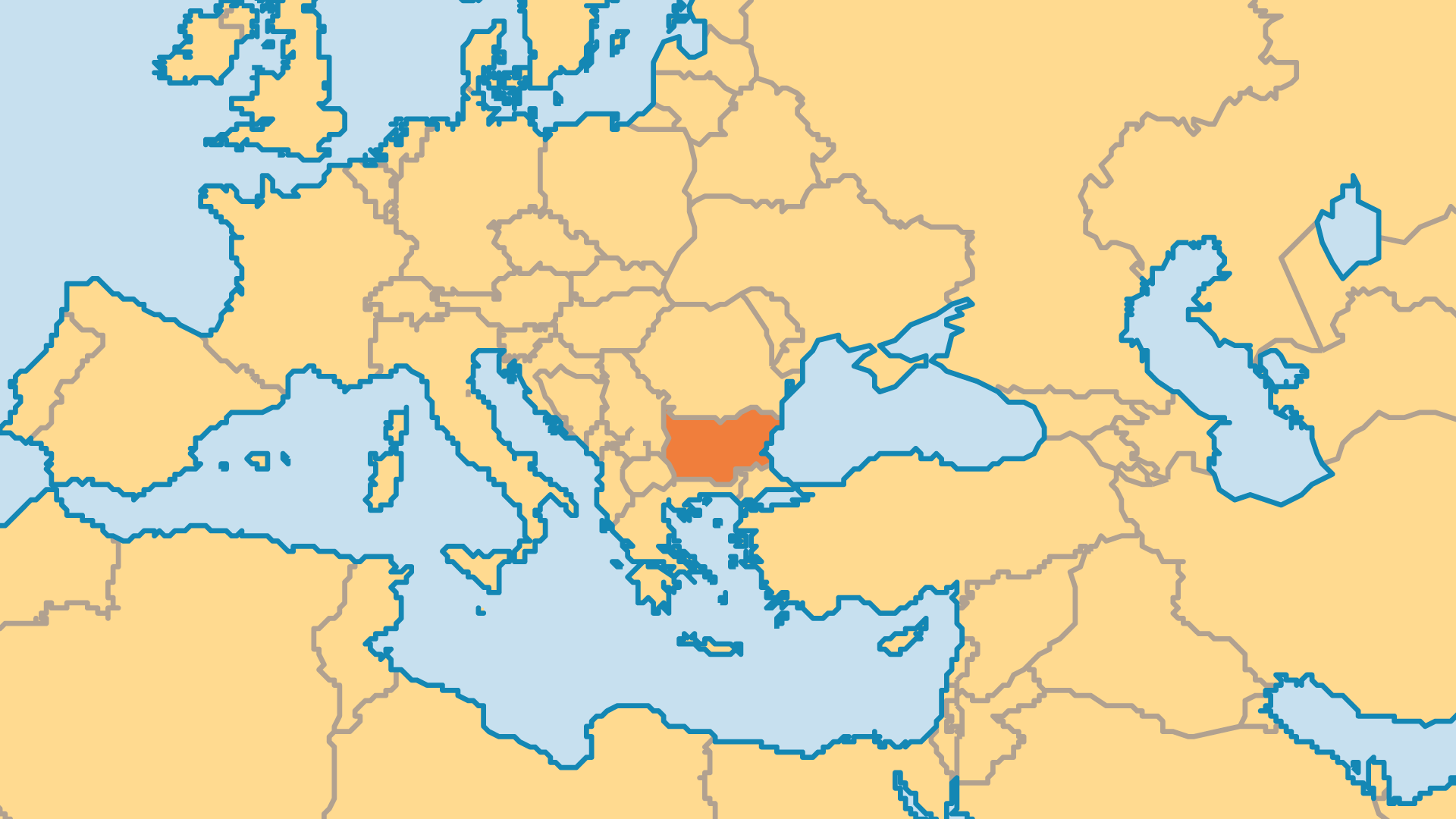 Locator Map for Bulgaria