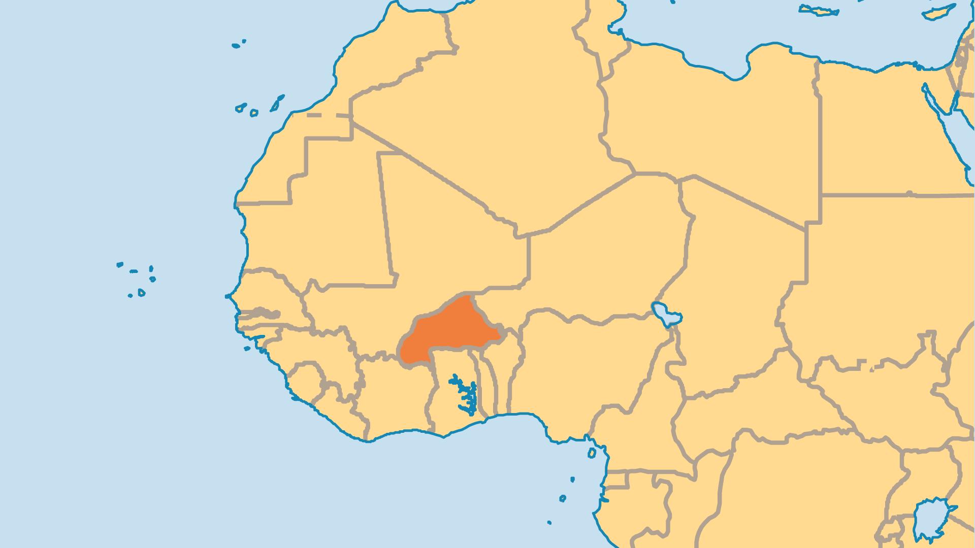 Locator Map for Burkina Faso