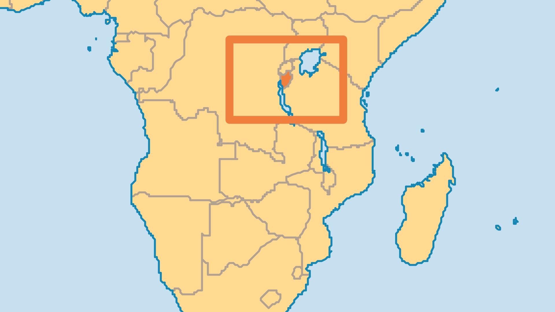 Locator Map for Burundi