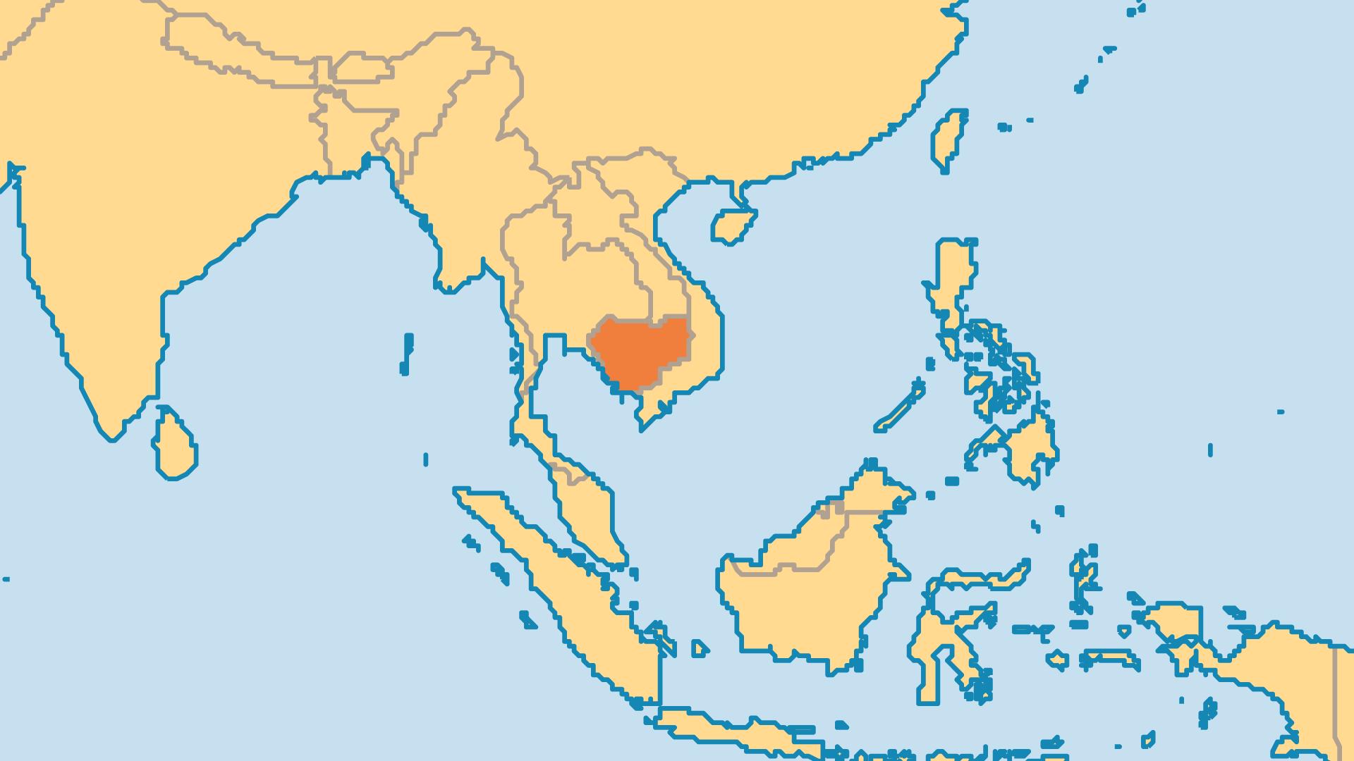 Locator Map for Cambodia