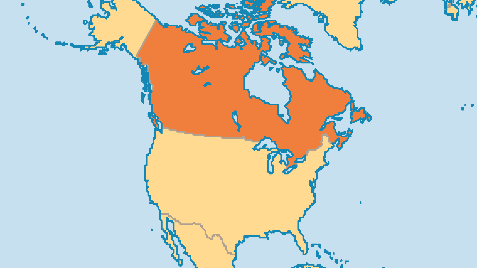 Locator Map for Canada
