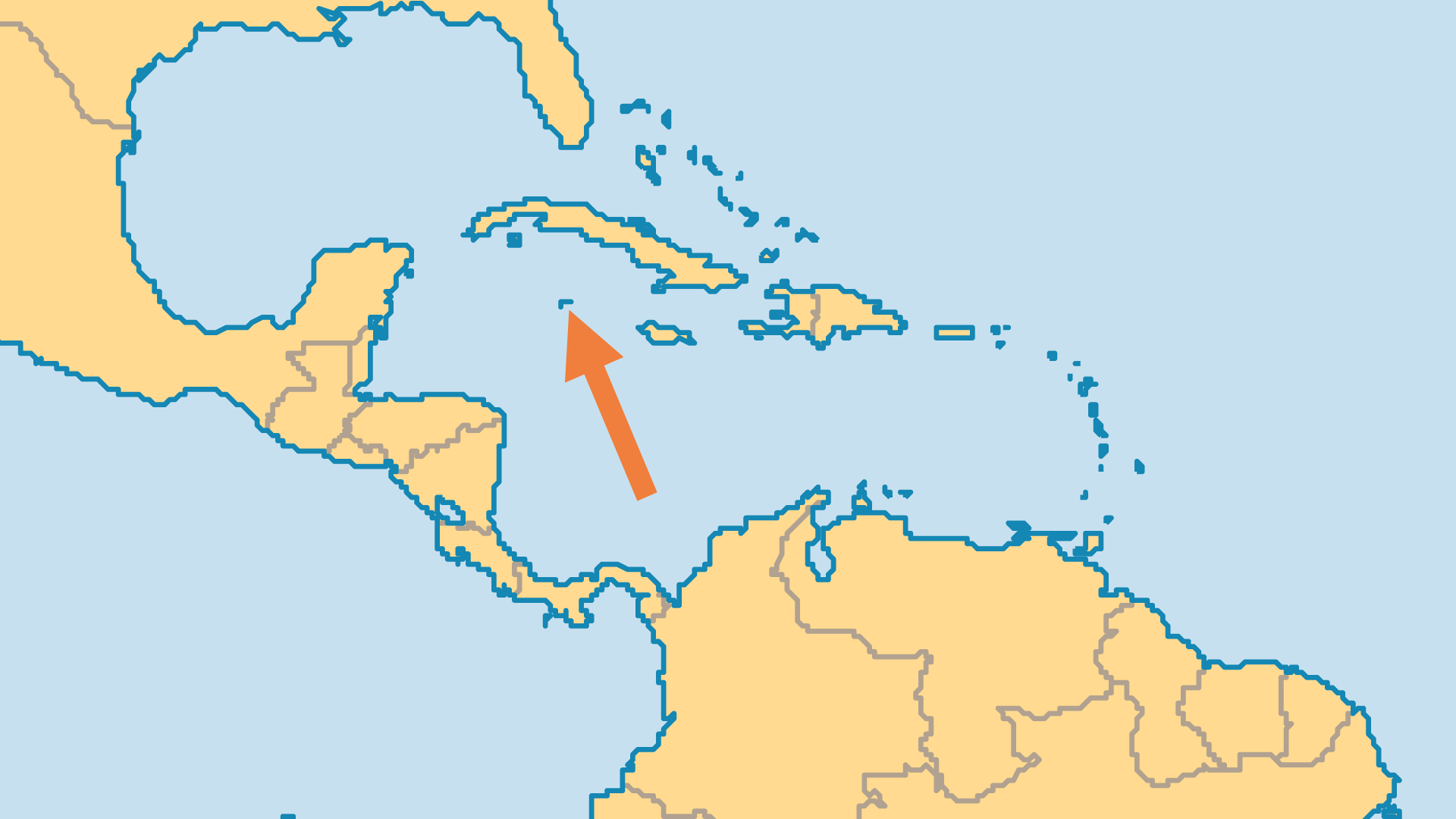 Locator Map for Cayman Islands