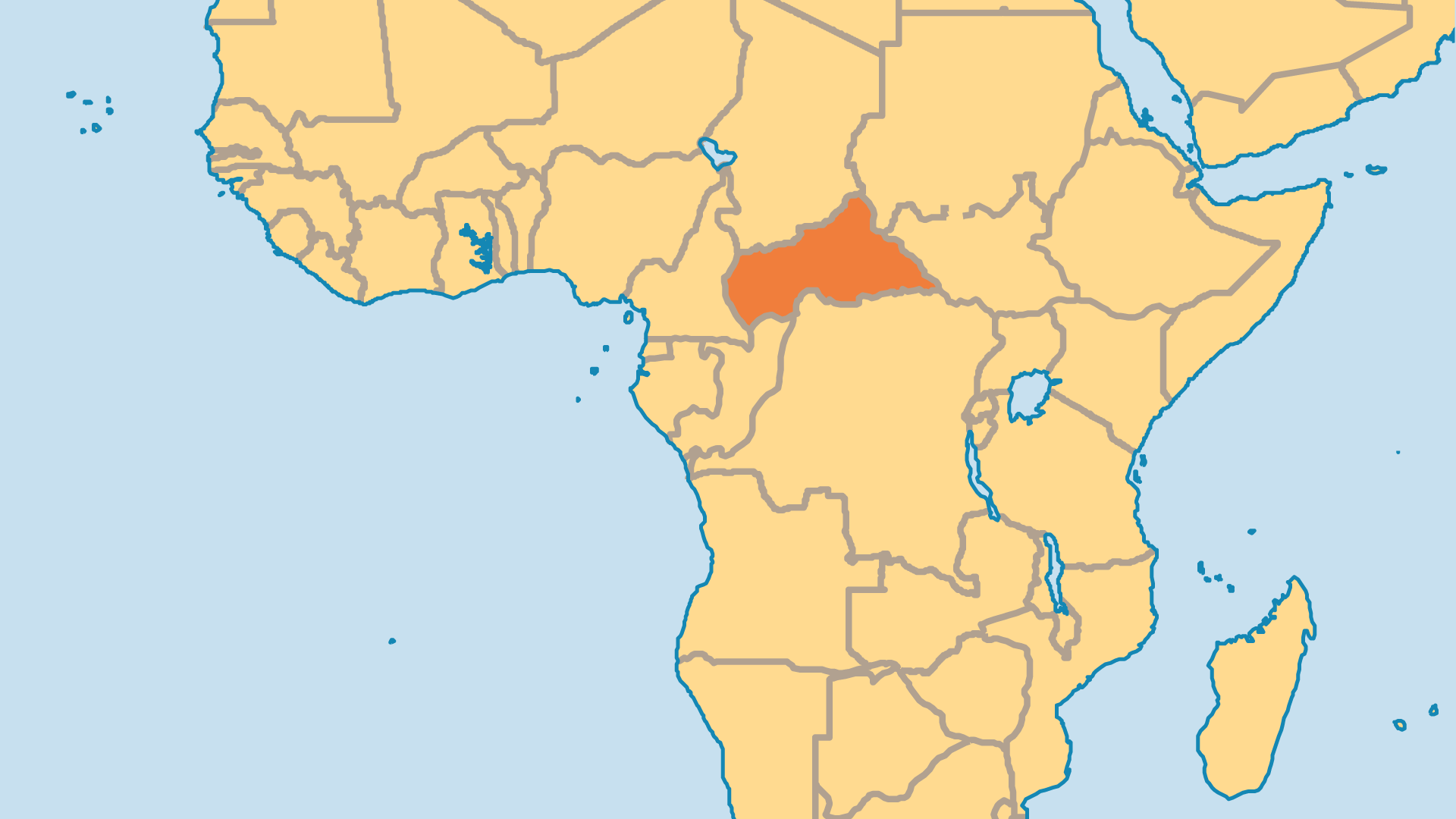 Locator Map for Central African Republic