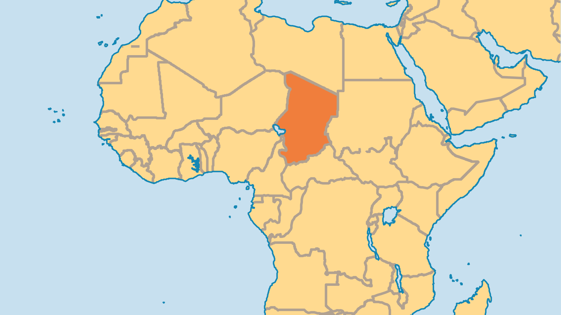 Locator Map for Chad