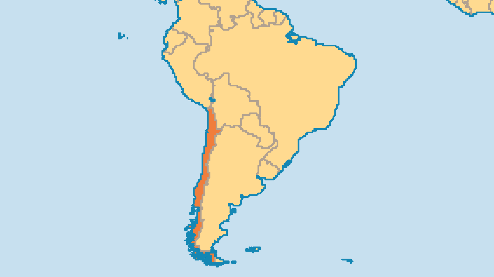 Locator Map for Chile